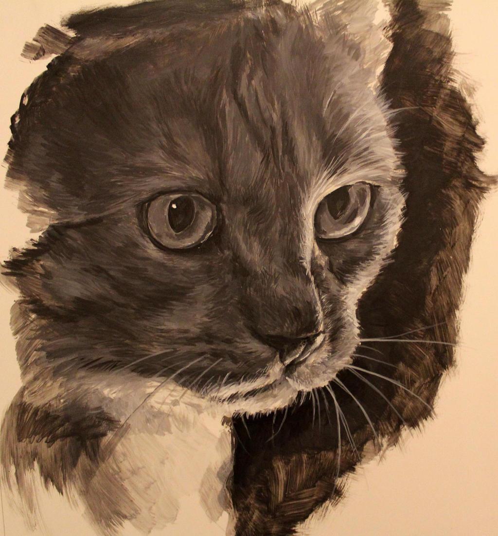 Cat Speed Painting by Mimitchki
