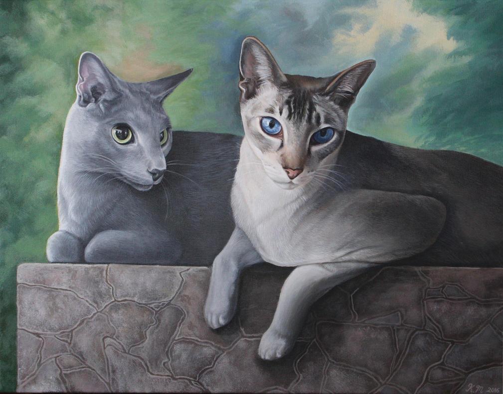 Resting Show Cats by Mimitchki