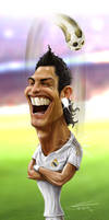 Cristiano Ronaldo Caricature by TomRutjens