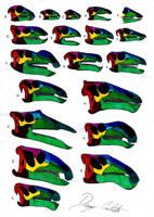 Ornithopoda (except hadrosaurids) skull comparison by Dennonyx
