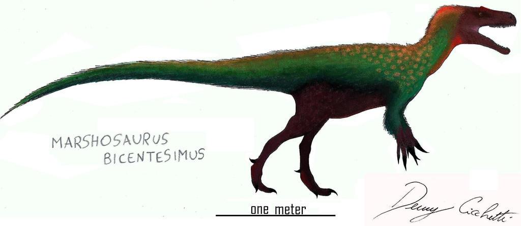 Marshosaurus by Dennonyx on DeviantArt