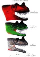 Ceratosaurus Trinity by Dennonyx