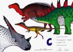 The Dinosaur Alphabet: C