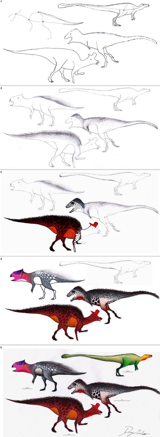 Uncategorized Dinosaur Drawing Tutorial step by tutorial how to draw 4 dinosaurs dennonyx on dennonyx