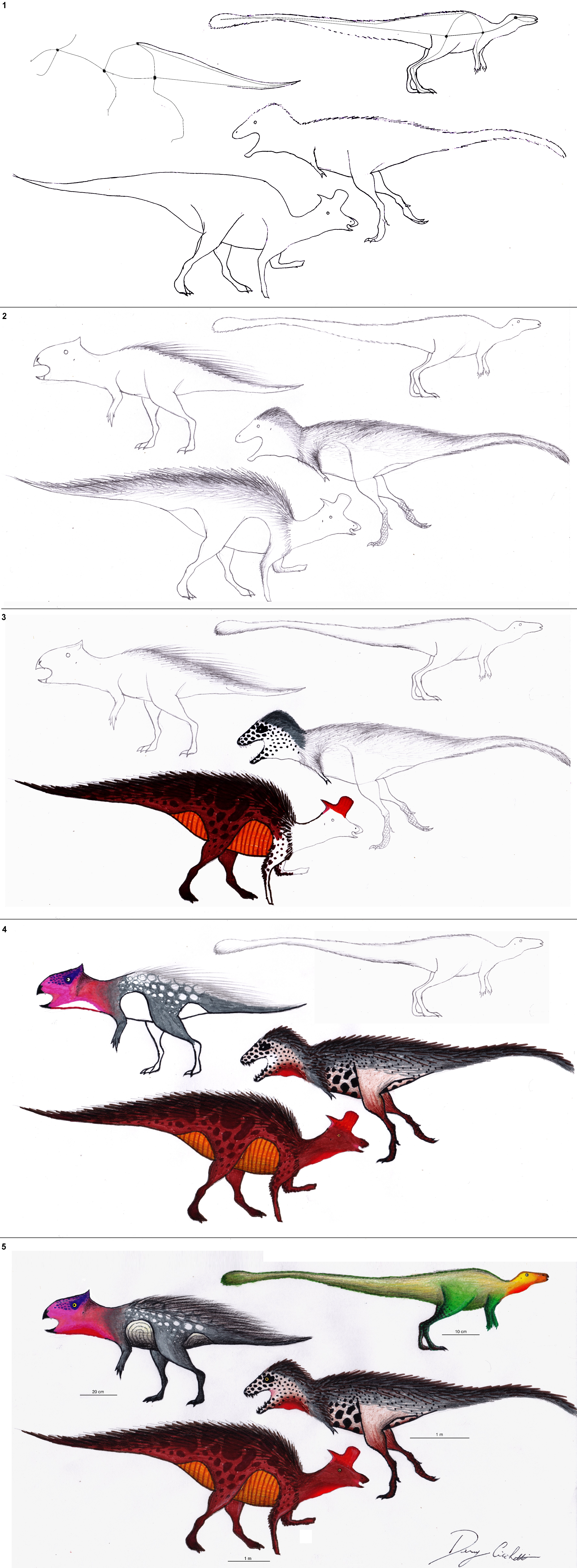 step by step tutorial how to draw 4 dinosaurs by dennonyx on deviantart. Black Bedroom Furniture Sets. Home Design Ideas