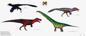 The Dinosaur Alphabet: M