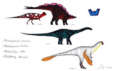 The Dinosaur Alphabet: W by Dennonyx