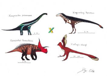The Dinosaur Alphabet: X by Dennonyx