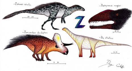 The Dinosaur Alphabet: Z by Dennonyx