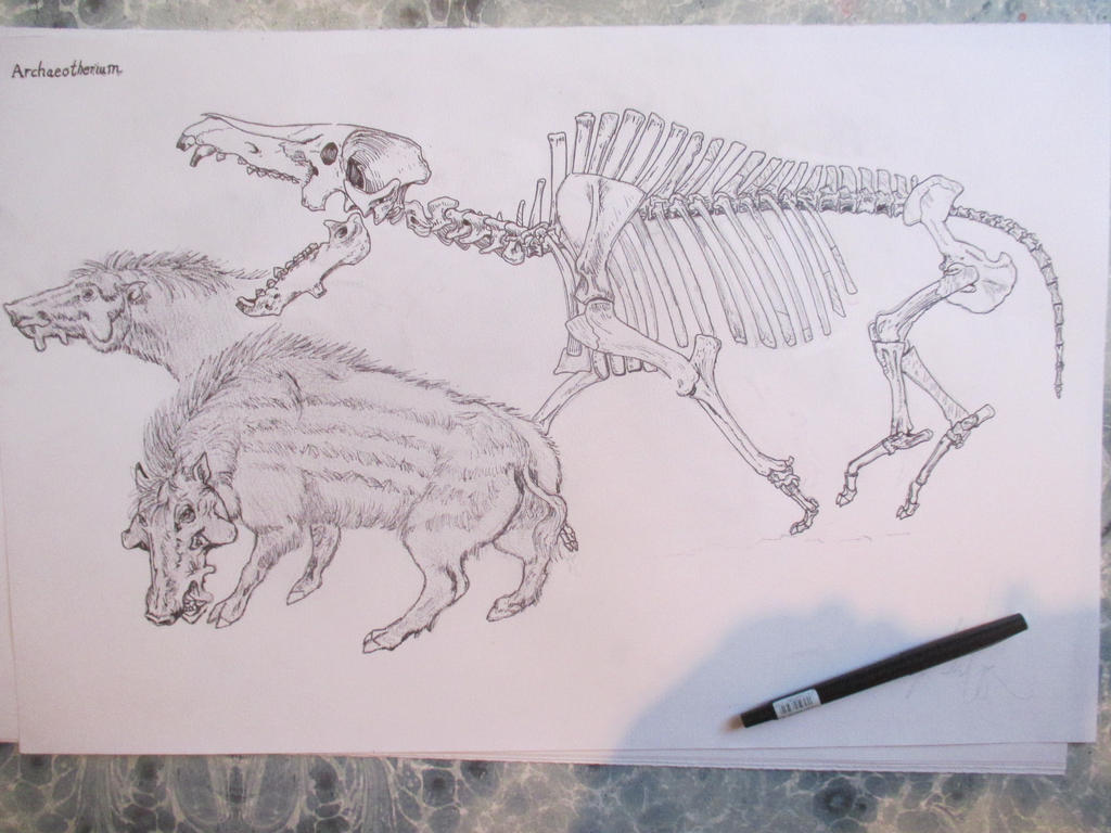 Archaeotherium 3 by Nekojika