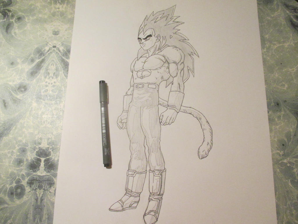 Vegeta super saiyan 4 (2) by Nekojika