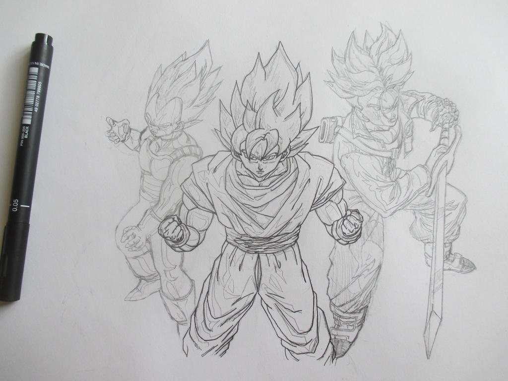 Super Saiyans 3 by Nekojika