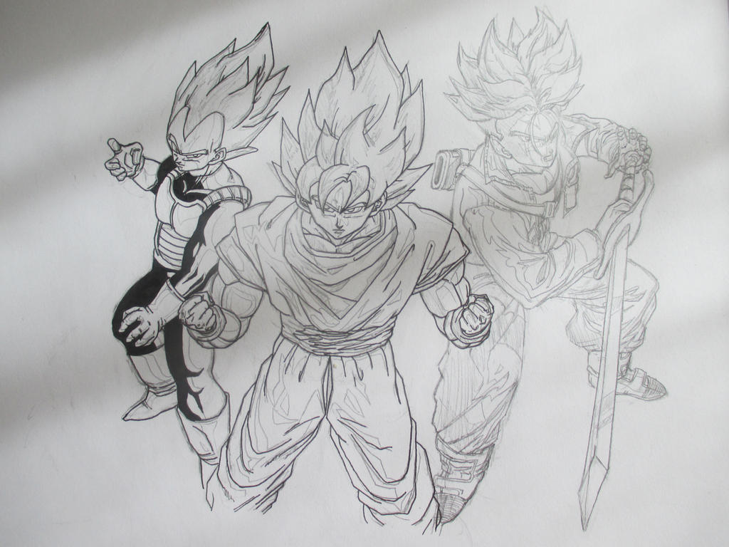 Super Saiyans 4 by Nekojika
