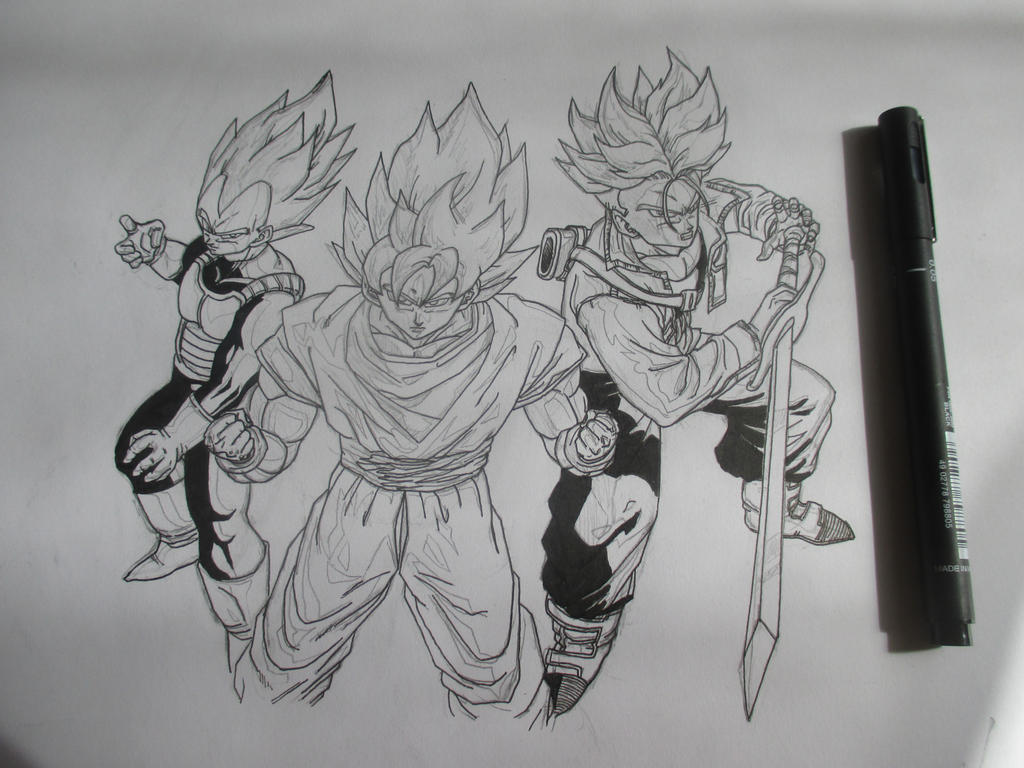 Super Saiyans 5 by Nekojika