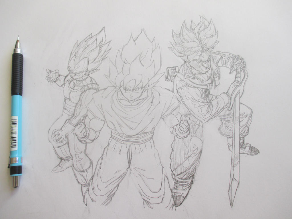 Super Saiyans by Nekojika