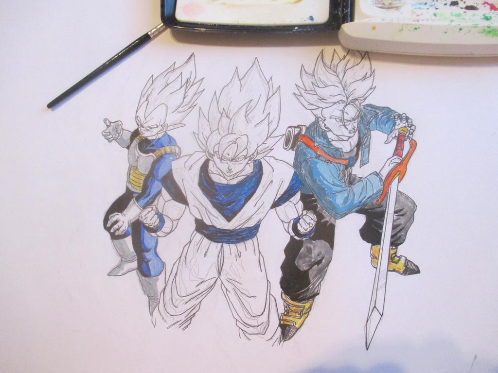 Super Saiyans 7 by Nekojika