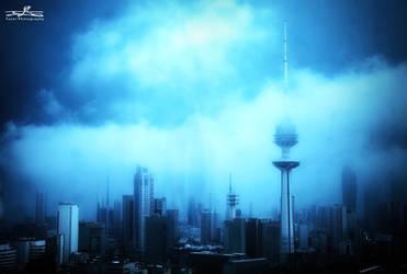 kuwait city fog by YASERGRAFIX