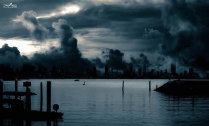 dark Kuwait City by YASERGRAFIX