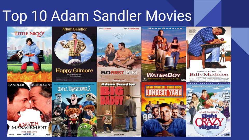 top 10 adam sandler movies by thestott on deviantart
