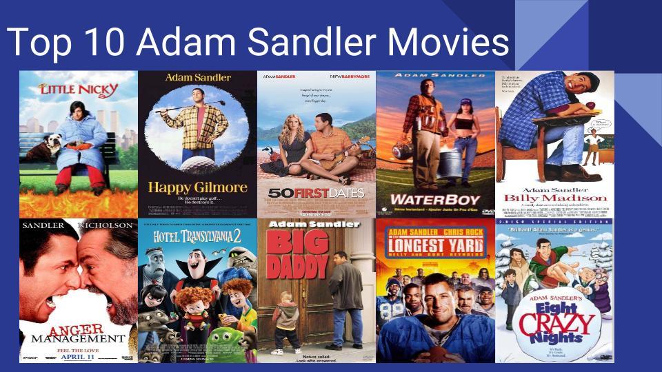 Top 10 Adam Sandler Movies By Thestott On Deviantart