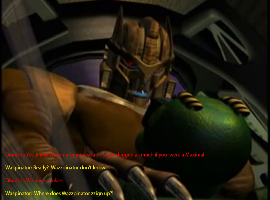Dinobot's Recruiting Tactics by FallenAngelAerith