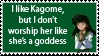 Sane Kagome Fan Stamp by FallenAngelAerith