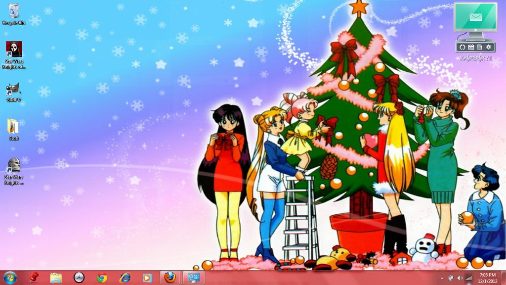 sailor moon christmas desktop by fallenangelaerith