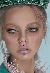 Beauty portrait. Photo manipulation.