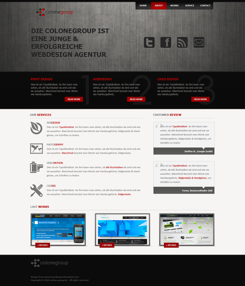 Colone Portfolio No.6 by h1xndesign