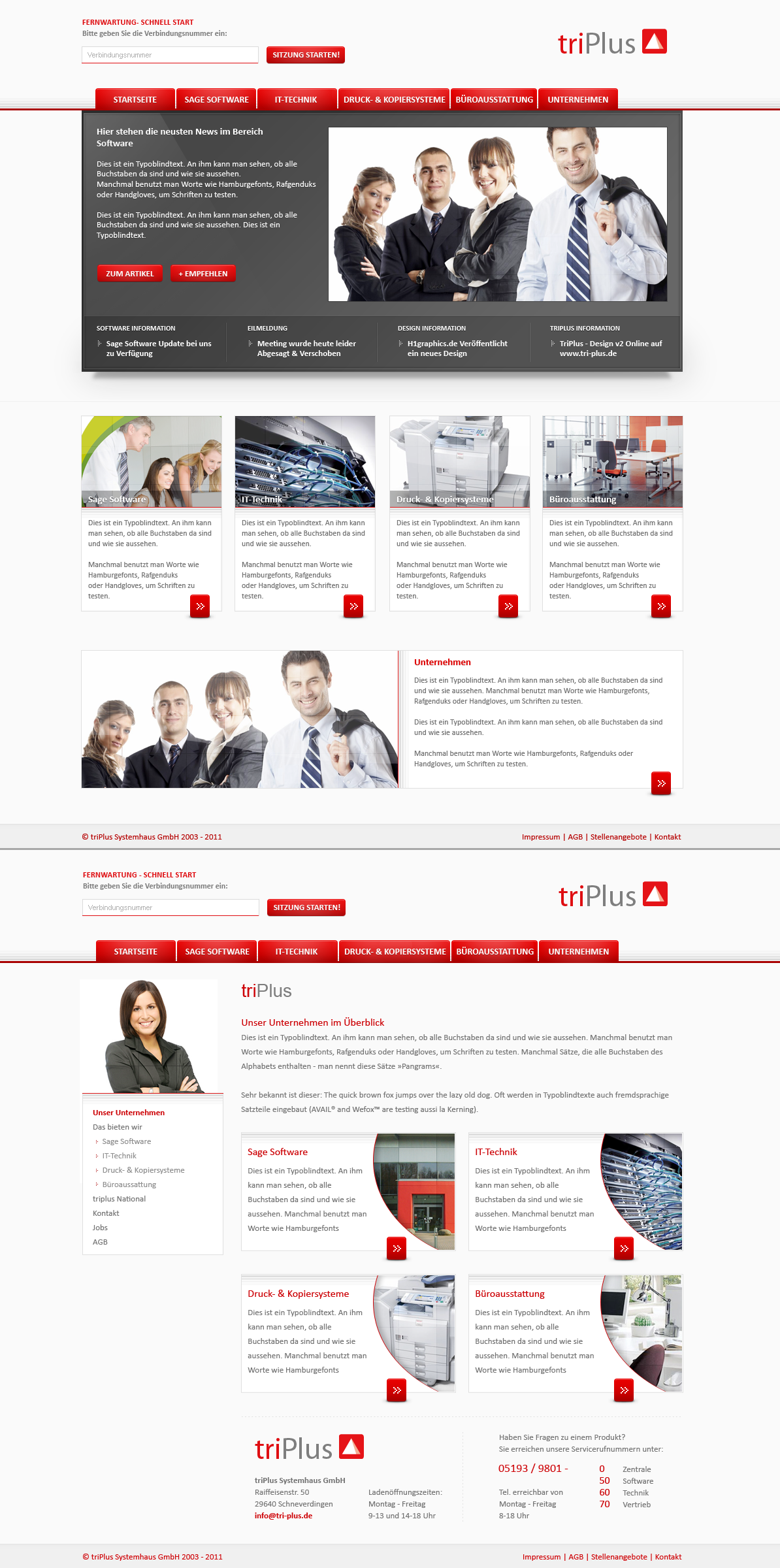 tri-Plus.de - Company by h1xndesign