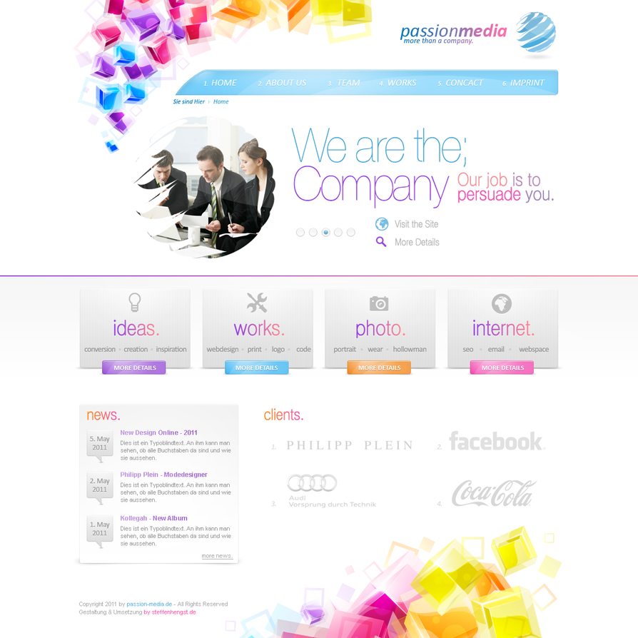 company design   passionmedia by h1xndesign d3f098k Web Design Interface Collection of Inspiration