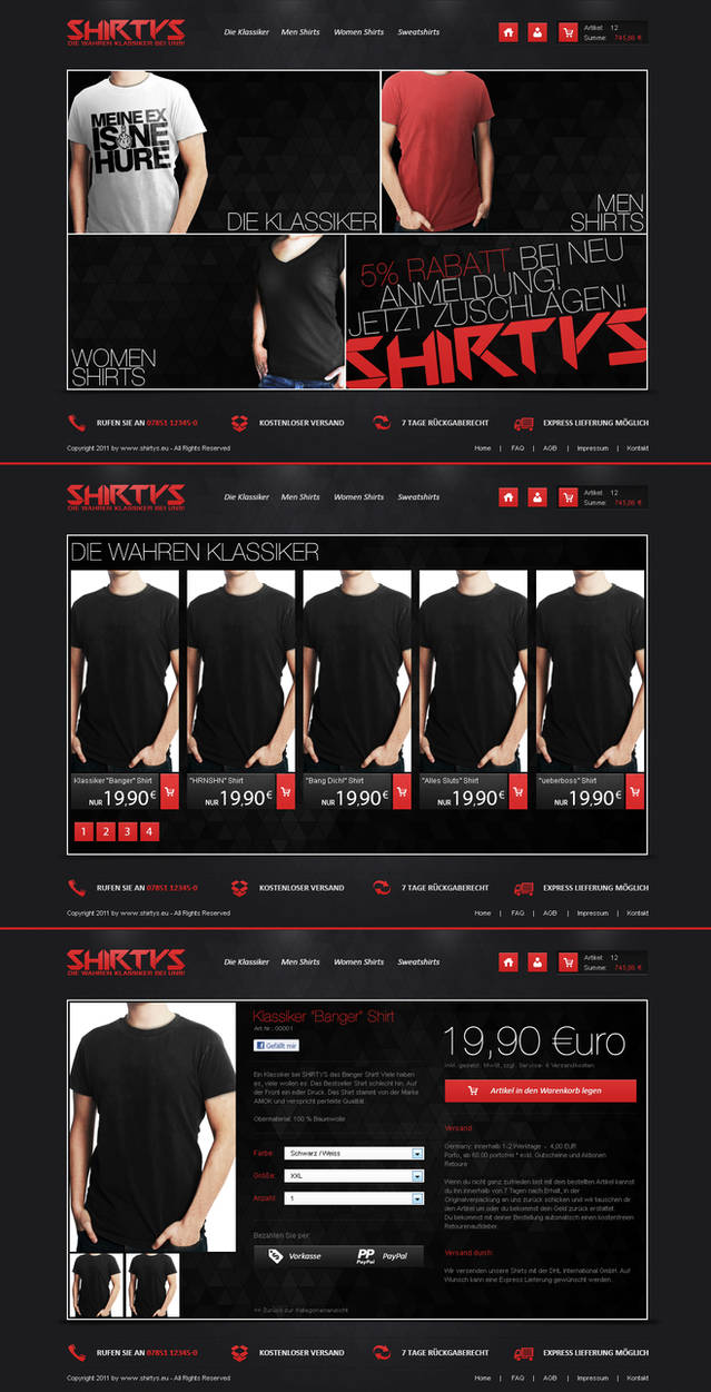 Shirtys - T-Shirt Shop Design