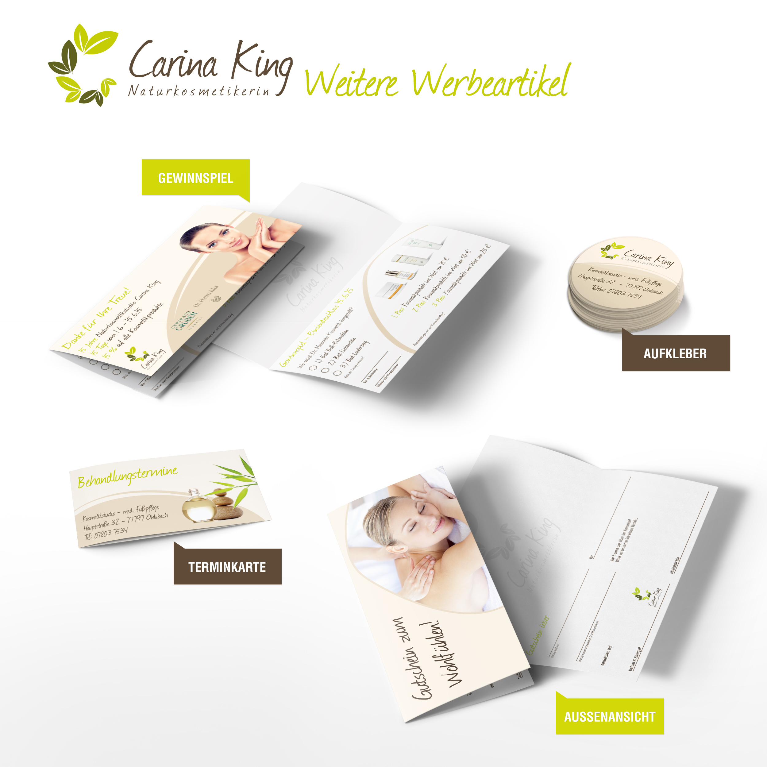 Carina King - Werbeartikel by h1xndesign