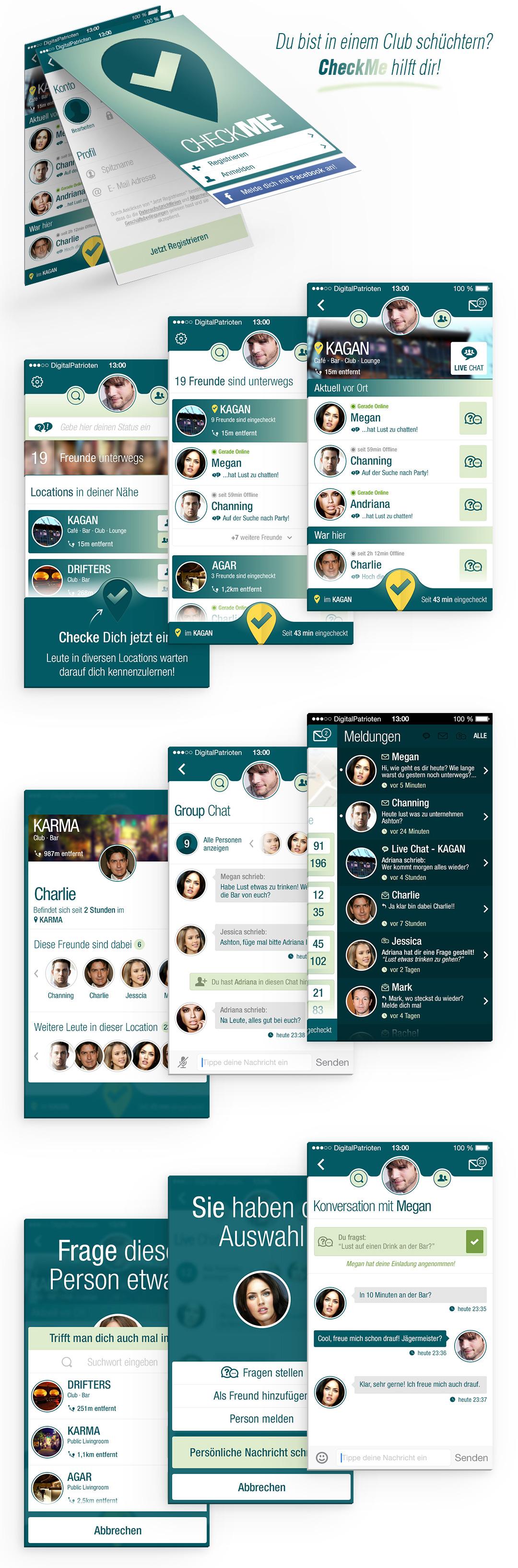 iOS Flirt App - CheckME by h1xndesign
