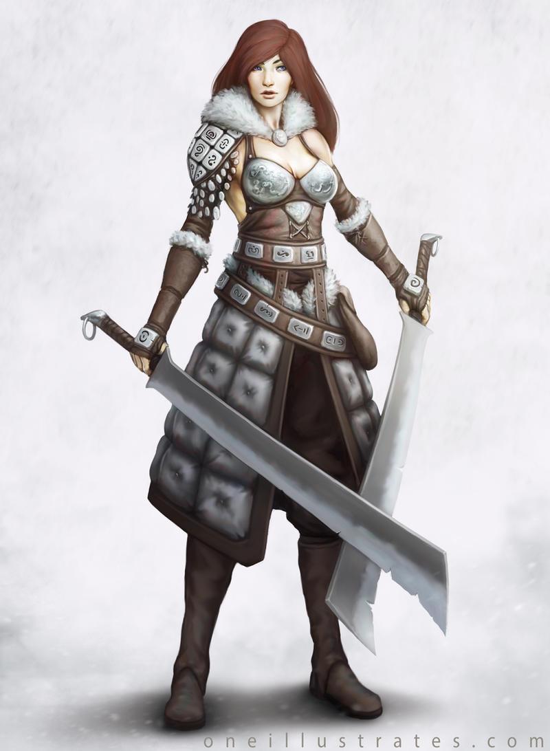Female Warrior Concept by oneillustrates on DeviantArt  Female Warrior ...