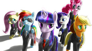 The Mane 6, Suited and Suave