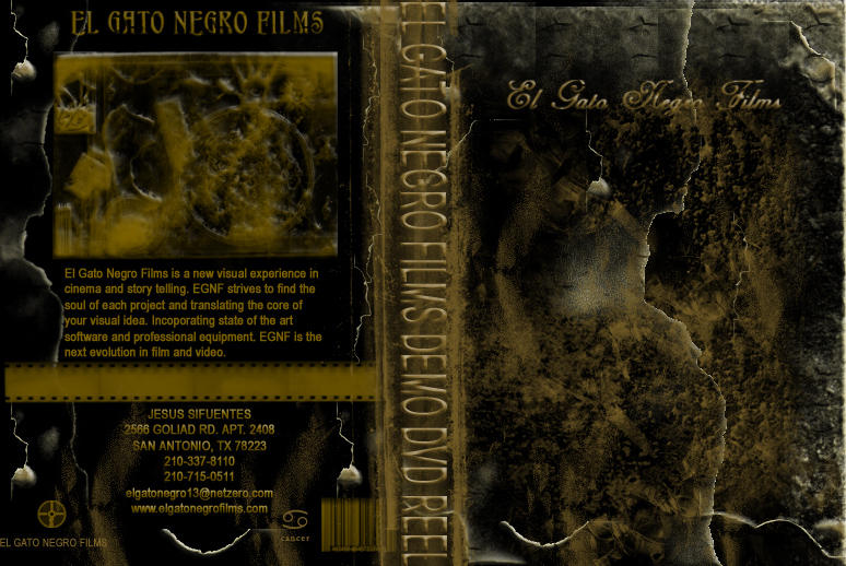 El Gato Negro Films DVD Label by elgatonegro13