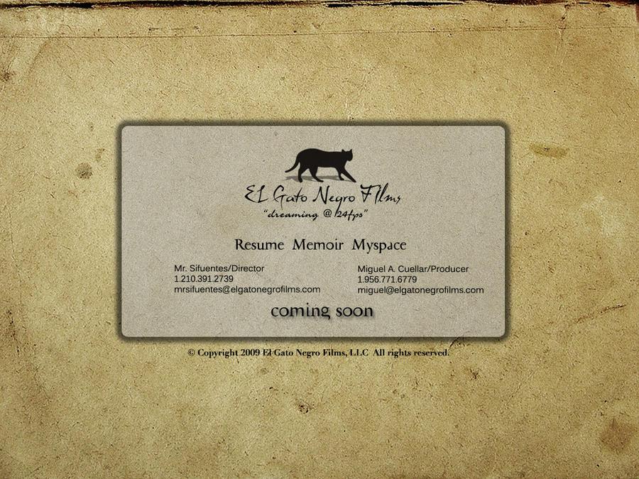 El Gato Negro Films 2012 by elgatonegro13