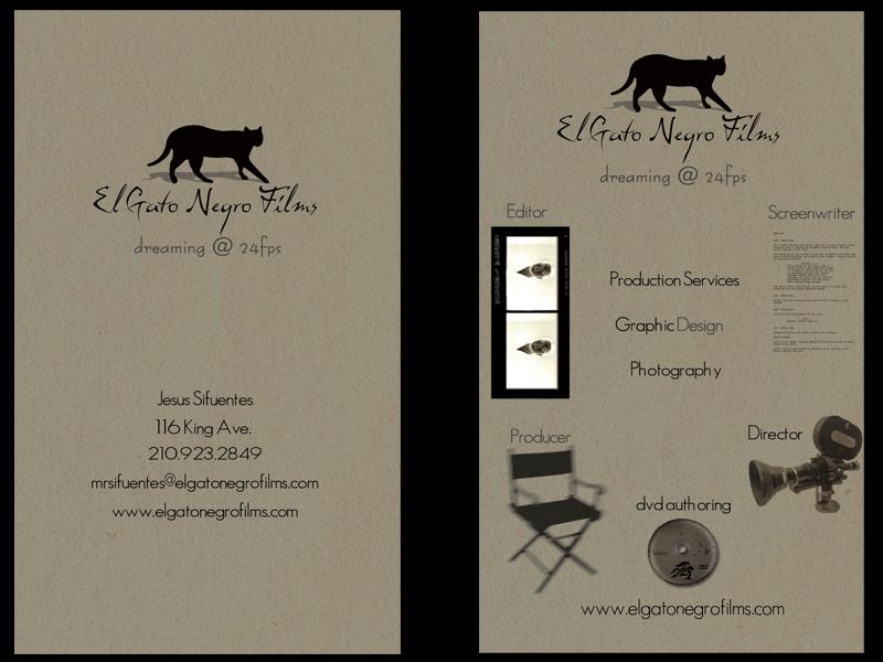 El Gato Negro Films Biz Card by elgatonegro13