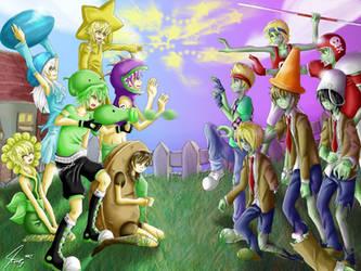 plants vs zombies human by Katkat-Tan