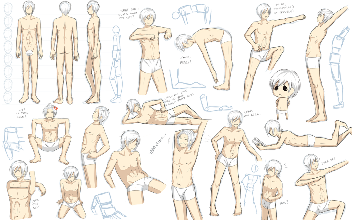 Male Anatomy Practice By Katkat Tan On Deviantart