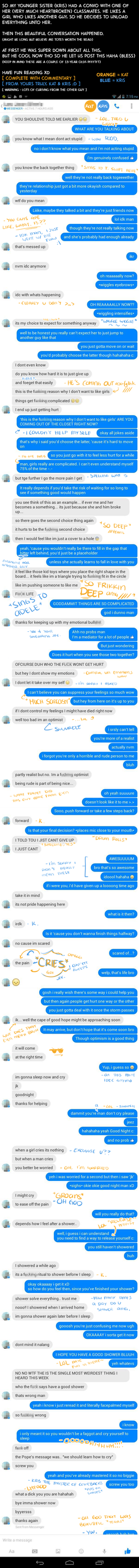 A convo with a (heartbroken) 13-yr old by Katkat-Tan