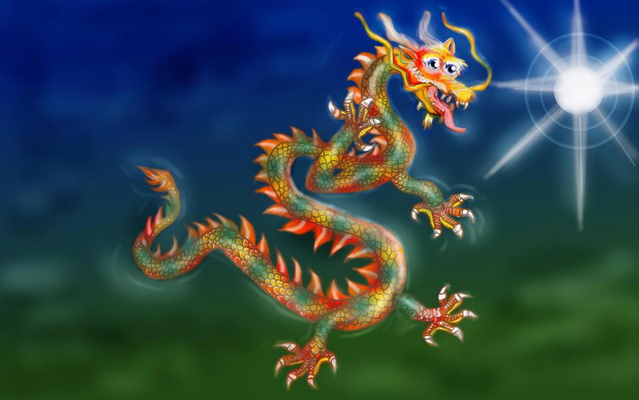 Rainbow imperial dragon arc en ciel by fredmik on deviantart - Dragon arc en ciel ...