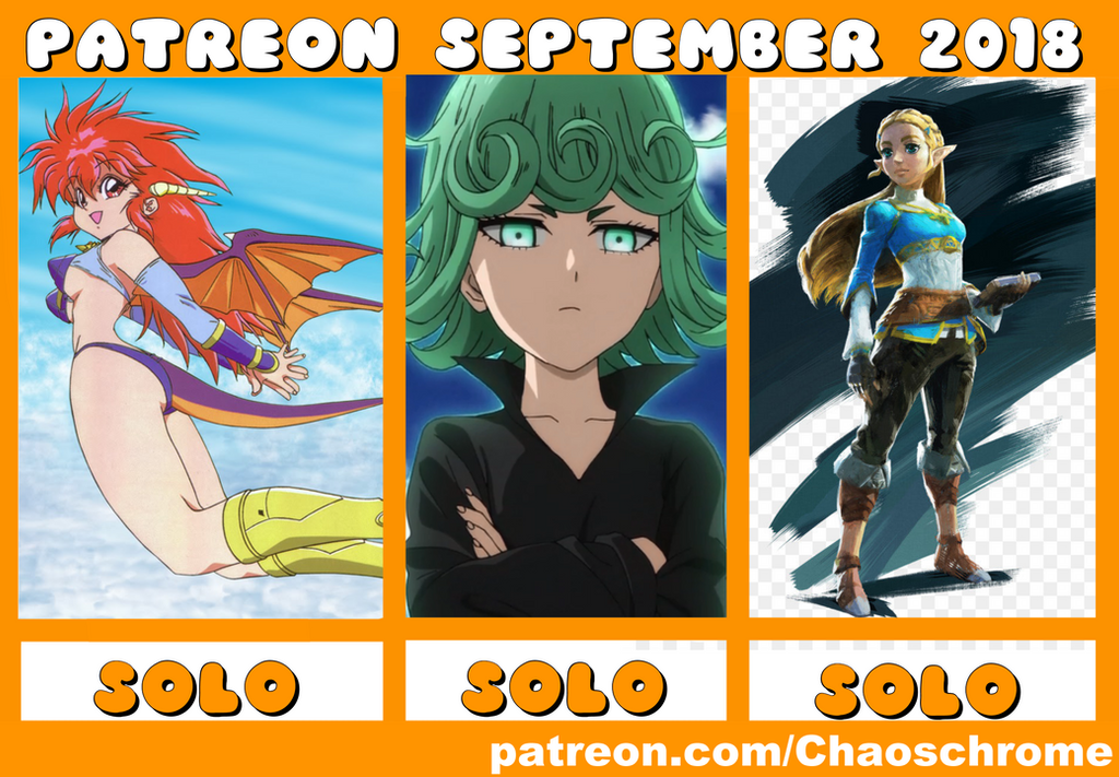 September 2018 Patreon schedule. by chaoschrome