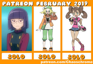 February 2019 Patreon schedule by chaoschrome