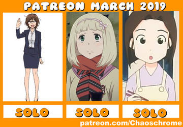 March 2019 Patreon schedule by chaoschrome