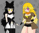 Blake and Yang - RWBY by chaoschrome