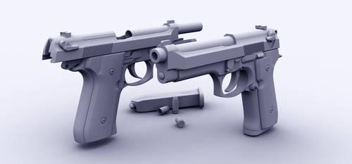 Beretta 92 by the-araon