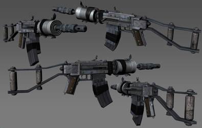 Homemade Assault Rifle by the-araon