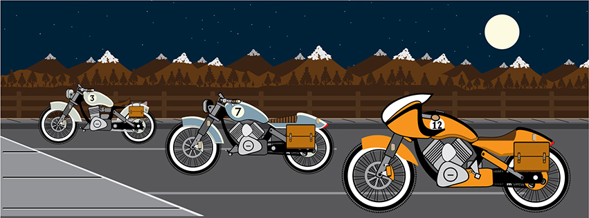 motorcycle rectangle Night 2 by LucasMonster